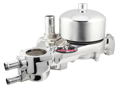 Tuff Stuff Performance - Platinum Style Water Pump w/Pulley Standard Flow Aluminum Casting Chrome 1310A