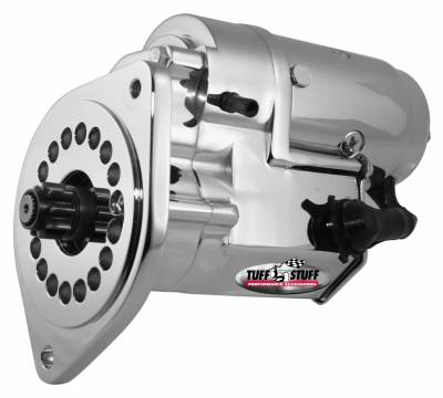 Tuff Stuff Performance - Gear Reduction Starter 2 Hole Mounting-One Hole Is Threaded Chrome 13149A