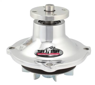 Tuff Stuff Performance - Standard Style Water Pump 3.078 in. Hub Height 5/8 in. Pilot Standard Flow Chrome 1317NA