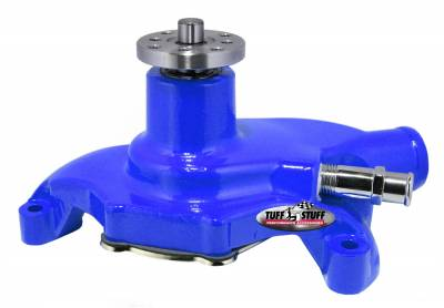 Tuff Stuff Performance - SuperCool Water Pump 5.625 in. Hub Height 5/8 in. Pilot Short Threaded Water Port Blue Powdercoat w/Chrome Accents 1354NCBLUE