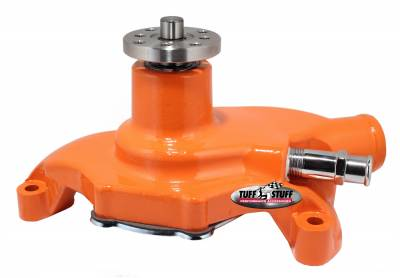 Tuff Stuff Performance - SuperCool Water Pump 5.625 in. Hub Height 5/8 in. Pilot Short Threaded Water Port Orange Powdercoat w/Chrome Accents 1354NCORANGE