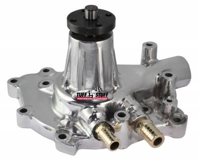 Tuff Stuff Performance - Platinum SuperCool Water Pump 5.437 in. Hub Height 5/8 in. Pilot w/Pass. Side Inlet Aluminum Casting Polished 1432AB