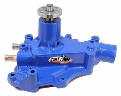 Tuff Stuff Performance - SuperCool Water Pump 5.687 in. Hub Height 5/8 in. Pilot w/Driver Side Inlet Windsor Only Blue 1468CBLUE