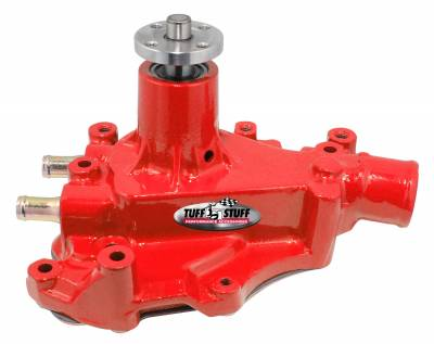 Tuff Stuff Performance - SuperCool Water Pump 5.687 in. Hub Height 5/8 in. Pilot w/Driver Side Inlet Windsor Only Red 1468CRED