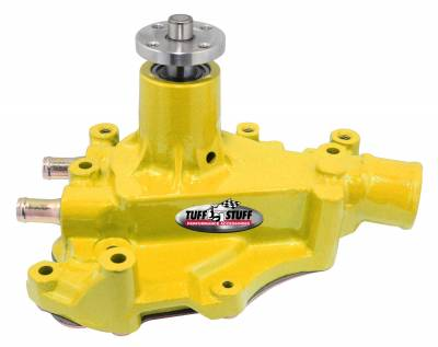 Tuff Stuff Performance - SuperCool Water Pump 5.687 in. Hub Height 5/8 in. Pilot w/Driver Side Inlet Windsor Only Yellow 1468CYELLOW