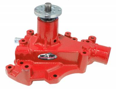 Tuff Stuff Performance - SuperCool Water Pump 5.687 in. Hub Height 5/8 in. Pilot w/Driver Side Inlet Cleveland Only Red 1469CRED