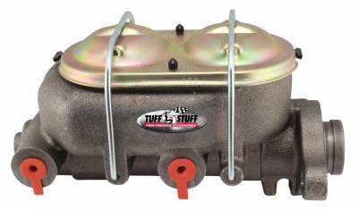 Tuff Stuff Performance - Brake Master Cylinder Univ. Dual Reservoir 1 in. Bore 9/16 in. And 1/2 in. Driver Side Ports Deep Hole Fits Hot Rods/Customs/Muscle Cars As Cast 2019NB