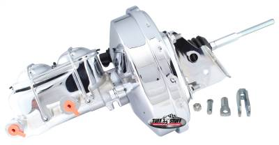 Tuff Stuff Performance - Brake Booster w/Master Cylinder 9 in. 1 in. Bore Single Diaphragm w/PN[2018] Dual Rsvr. Master Cyl. Incl. 3/8 in.-16 Mtg. Studs Chrome 2126NA-2