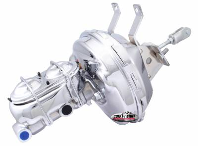 Tuff Stuff Performance - Brake Booster w/Master Cylinder 9 in. 1 1/8 in. Bore Single Diaphragm w/PN[2071] Dual Rsvr. Master Cyl. Incl. 3/8 in.-16 Studs Chrome 2130NA