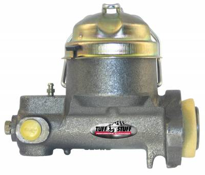 Tuff Stuff Performance - Brake Master Cylinder Single Rsvr. 1 in. Bore Dual 7/16-24 Ports 3 1/2 in. Mounting Hole Spacing Drum-Drum Fruit Jar Style Plain 2150NB