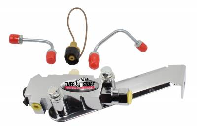 Tuff Stuff Performance - Brake Proportioning Valve Kit 3/8 in. Ports Disc/Drum For Master Cylinder PN[2020/2021/2025/2026] Chrome 2301NA
