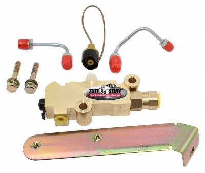 Tuff Stuff Performance - Brake Proportioning Valve Kit 1/2 And 9/16 in. Ports Disc/Drum For Master Cylinders PN[2018/2019/2023/2024] Brass 2302NB