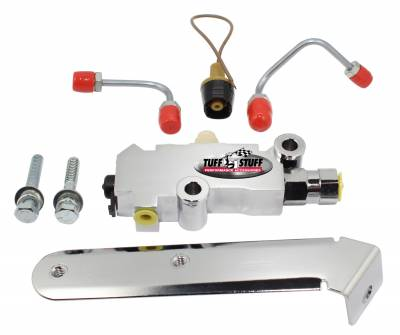 Tuff Stuff Performance - Brake Proportioning Valve Kit 1/2 And 9/16 in. Ports Disc/Drum For Master Cylinders PN[2027/2028/2071/2073] Chrome 2303NA