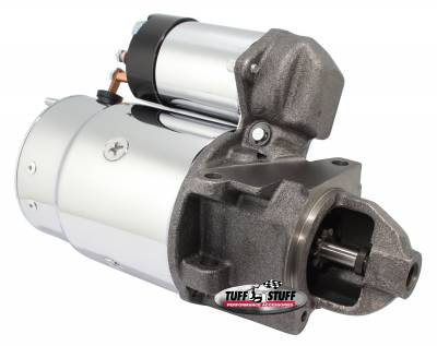 Tuff Stuff Performance - OEM Style Starter Full Size w/Offset Mounting Block 168 Tooth Flywheel Cast Iron Nose Chrome 3689A