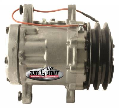 Tuff Stuff Performance - Peanut Style SD7 A/C Compressor R134A Series Double Pulley As Cast 4517NCDP