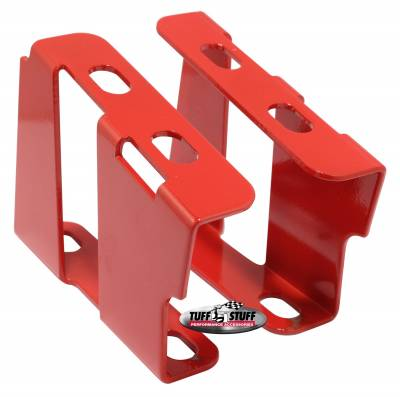 Tuff Stuff Performance - Brake Booster Brackets Incl. Left And Right Side 1955-1964 GM For Brake Booster PN[2121/2122/2123/2221/2222/2223] Red Powdercoat 4651BRED