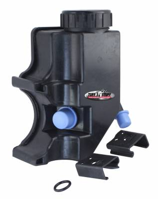 Tuff Stuff Performance - Type II Power Steering Pump Reservoir Incl. Twist Cap w/Built-In Dipstick/2 Mounting Clips/O-Ring 3/8 in. OD Return Tube GM Pressure Port Fitting 6175ARES