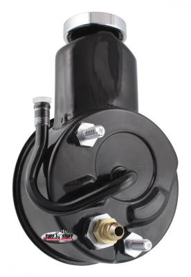 Tuff Stuff Performance - Saginaw Style Power Steering Pump Direct Fit 5/8 in. Keyed Shaft 3/8 in.-16 Mounting Black 6190B