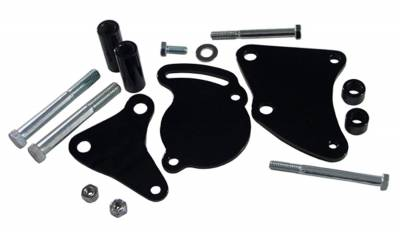 Tuff Stuff Performance - Power Steering Pump Bracket Short Fits Tuff Stuff Type II Power Steering Pumps Black 6505B