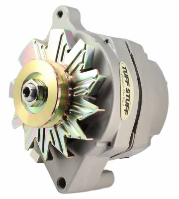 Tuff Stuff Performance - Alternator Smooth Back 1 Wire 140 AMP V Groove Pulley Internal Regulator As Cast 7068K