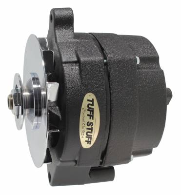 Tuff Stuff Performance - Alternator Smooth Back 1 Wire 100 AMP V Groove Pulley Black Wrinkle 7068NGBW