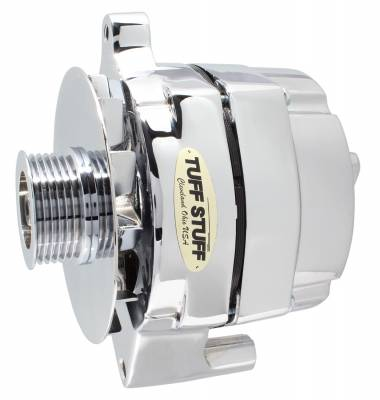 Tuff Stuff Performance - Alternator Smooth Back 1 Wire 100 AMP 6 Groove Pulley Chrome 7068RD6G