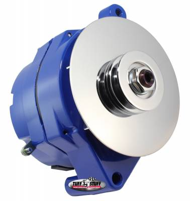 Tuff Stuff Performance - Alternator Smooth Back 1 Wire 100 AMP V Groove Pulley Blue 7068RDBLUE