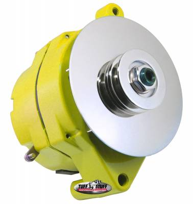 Tuff Stuff Performance - Alternator Smooth Back 1 Wire 100 AMP V Groove Pulley Yellow 7068RDYELLOW