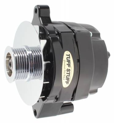 Tuff Stuff Performance - Alternator Smooth Back 1 Wire 100 AMP 6 Groove Pulley Black 7068RF6G