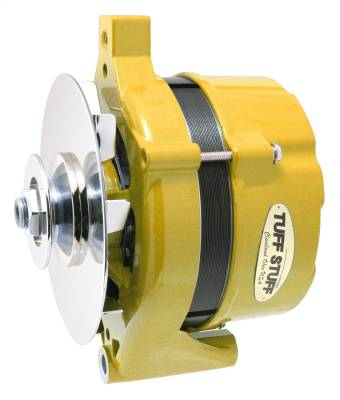 Tuff Stuff Performance - Alternator 70 AMP OEM Wire V Groove Pulley Yellow Powdercoat w/Chrome Accents 7078NHYELLOW