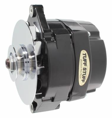 Tuff Stuff Performance - Alternator 80 AMP OEM Wire V Groove Pulley External Regulator Black Must Be Used With An External Solid State Voltage Regulator 7102NF