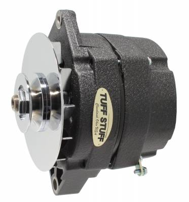 Tuff Stuff Performance - Alternator 140 AMP OEM Or 1 Wire V Groove Pulley Black Wrinkle 7127NKBW