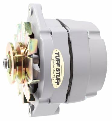 Tuff Stuff Performance - Alternator 100 AMP OEM Or 1 Wire V Groove Pulley Gray Primer Powdercoat 7127RATGRAY