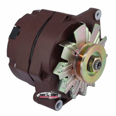 Tuff Stuff Performance - Alternator 100 AMP OEM Or 1 Wire V Groove Pulley Red Oxide Powdercoat 7127RATRED