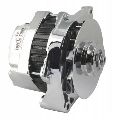 Tuff Stuff Performance - Alternator 140 AMP Incl. Pigtail/OEM Wiring V Groove Pulley Chrome 7290NA