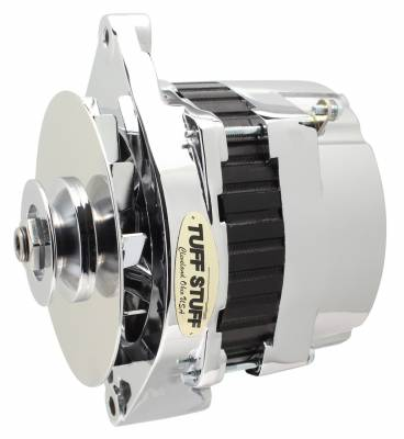Tuff Stuff Performance - Alternator 200 AMP Incl. Pigtail/OEM Wiring V Groove Pulley Aluminum Polished 7290NEP