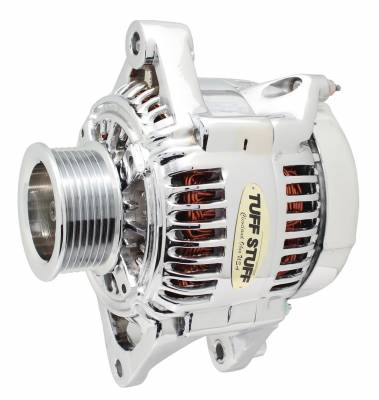 Tuff Stuff Performance - Alternator 175 AMP Upgrade OEM Wire 7 Groove Pulley Internal Regulator Polished 7510CP