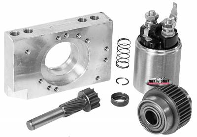 Tuff Stuff Performance - Starter Rebuild Kit Incl. Full Spline Pinion Gear/Pinion Clutch Assy/Mounting Block/Solenoid For Starter PN[6584] 7584A