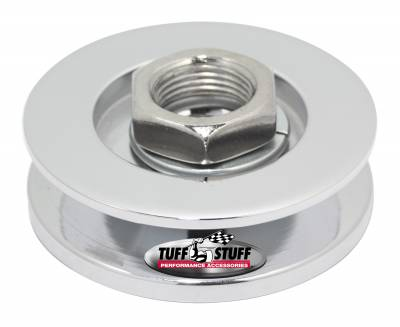 Tuff Stuff Performance - Alternator Pulley 2.25 in. Single V Groove Incl. Lockwasher/Nut Chrome 7610E