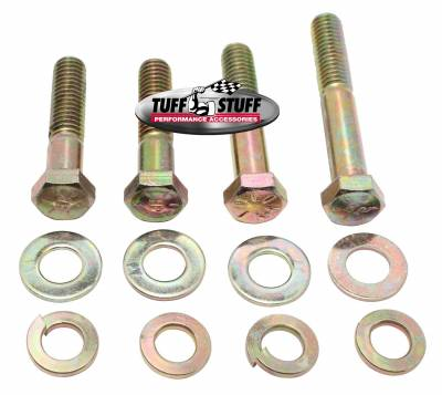 Tuff Stuff Performance - Water Pump Bolt Kit Zinc Hex Incl. (2) 3/4 in.-16x1 3/4 in./(1) 3/4 in.-16x2 in./(1) 3/8 in.-16x2 1/2 in. Bolts/(4) Lock And (4) Flat Washers 7677B
