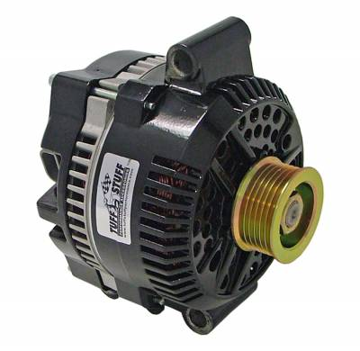 Tuff Stuff Performance - Alternator 150 AMP OEM Wire 8 Groove Pulley Internal Regulator Aluminum Black 7768B