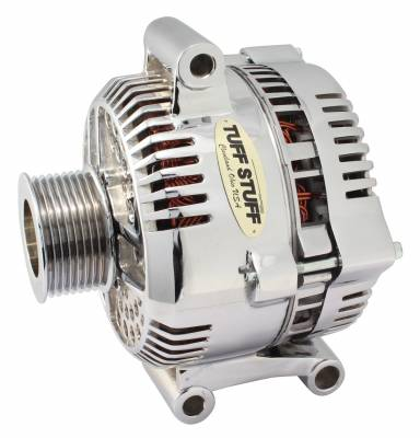 Tuff Stuff Performance - Alternator 200 AMP Upgrade OEM Wire 8 Groove Pulley Internal Regulator Polished 7768DP