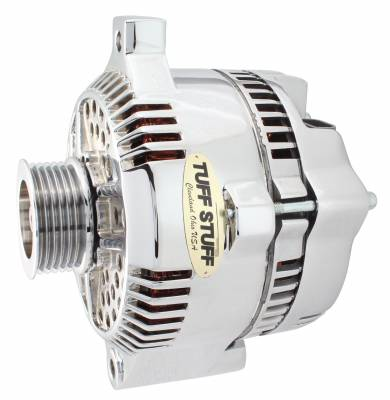 Tuff Stuff Performance - Alternator 150 AMP OEM Wire 6 Groove Pulley Internal Regulator Chrome 7771A6G