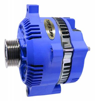 Tuff Stuff Performance - Alternator 150 AMP OEM Wire 6 Groove Pulley Internal Regulator Blue 7771A6GBLUE