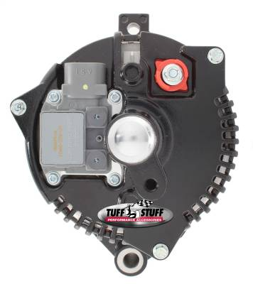 Tuff Stuff Performance - Alternator 150 AMP OEM Wire 6 Groove Pulley Internal Regulator Heavy Duty Ball Bearings Black 7771B6G