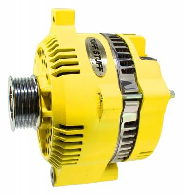 Tuff Stuff Performance - Alternator 200 AMP OEM Wire 6 Groove Pulley Internal Regulator Yellow 7771D6GY