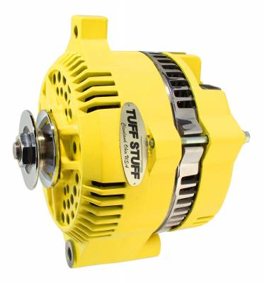 Tuff Stuff Performance - Alternator 200 AMP OEM Wire V Groove Pulley Internal Regulator Yellow 7771DYELLOW