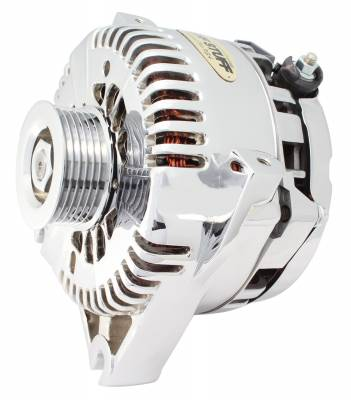 Tuff Stuff Performance - Alternator DOHC Application 150 AMP OEM Wire 6 Groove Pulley Internal Regulator Aluminum Polished 7781AP