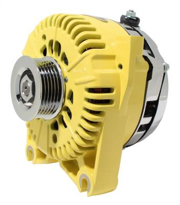 Tuff Stuff Performance - Alternator 150 AMP OEM Wire 6 Groove Pulley Internal Regulator Yellow 7781AYELLOW