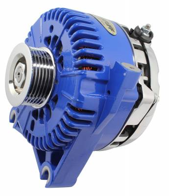 Tuff Stuff Performance - Alternator 200 AMP Upgrade OEM Wire 6 Groove Pulley Internal Regulator Blue 7781DBLUE